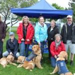 COPE service dogs team rotary fun run event