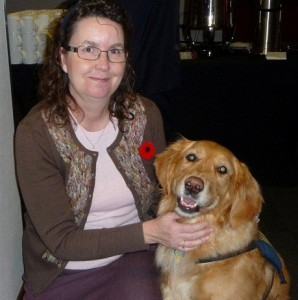 Anne and COPE Service Dog Avalon